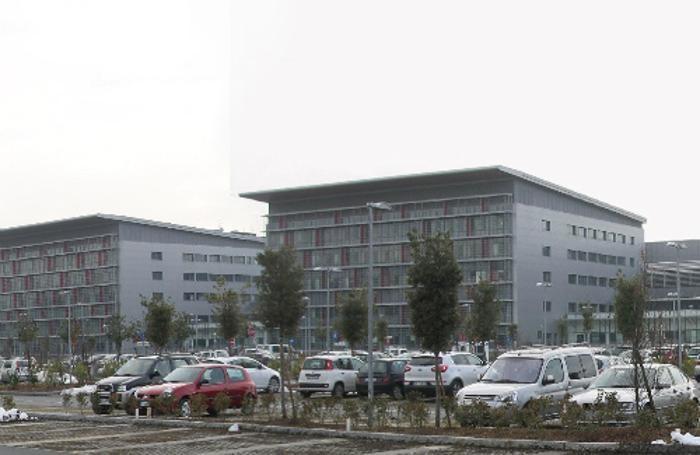 Il parcheggio dell'Ospedale Papa Giovanni XXIII di Bergamo-
