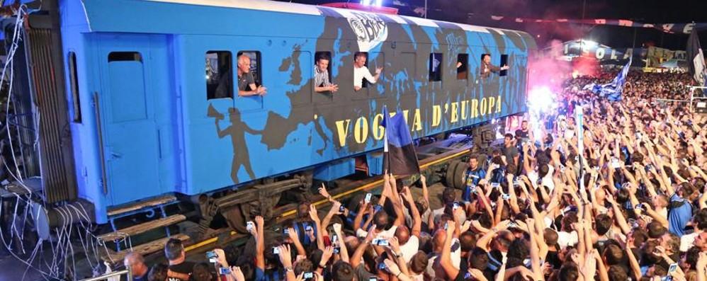 Festa della Dea: finale col  botto - Video  Percassi e Stromberg arrivano in treno...