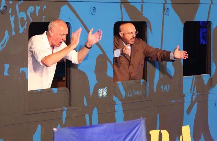 Il presidente Percassi e il dg Marino sul treno nerazzurro