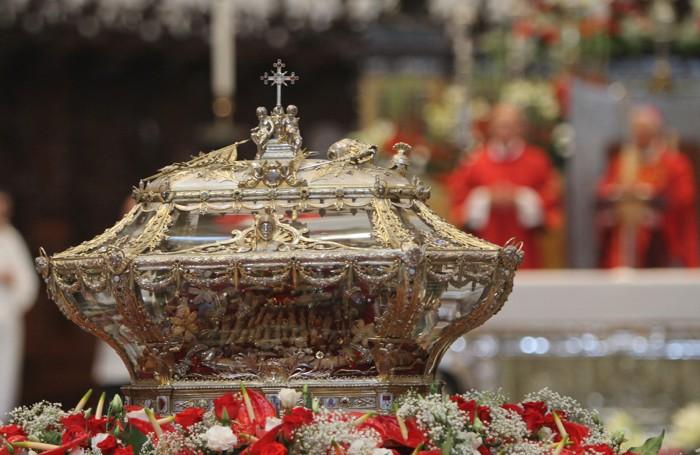 L'urna di Sant'Alessandro, martire e patrono di Bergamo