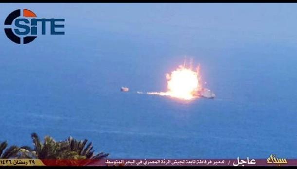 Egitto: scontro a fuoco su nave marina