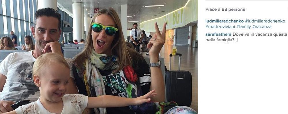 Orio, scatto vip in aeroporto Ecco Ludmilla e la iena Matteo