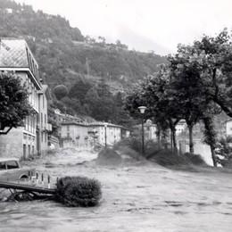 Il fiume Brembo in piena a San Pellegrino