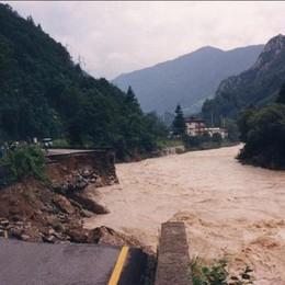 L'alluvione  nella zona dei piani di Scalvino a Lenna