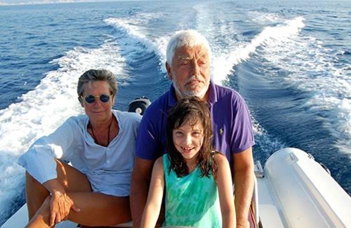 Franca Iapicca con i familiari