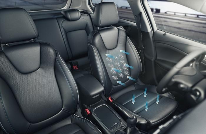 I sedili traspiranti dell'Opel Astra