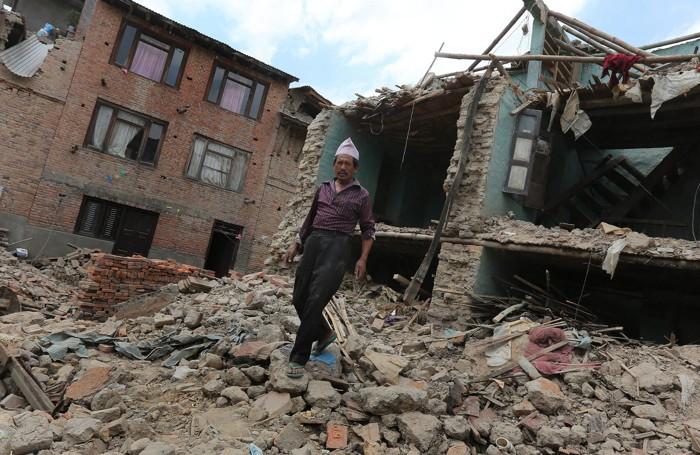 La distruzione del terremoto