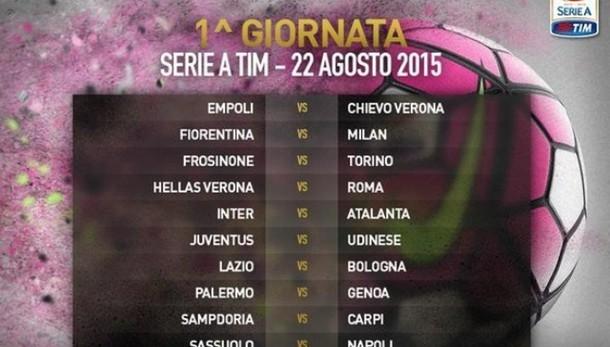 Serie A: Juve-Udinese alla 1/a giornata