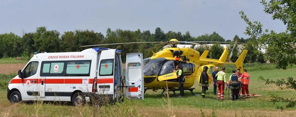 Brignano: scontro tra moto e furgone Un 27enne di Urgnano in ospedale