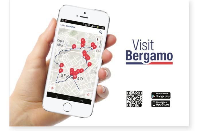 L'App VisitBergamo sviluppata per la piattaforma IOS e Android