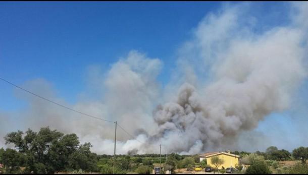 Incendi in Gallura, case evacuate