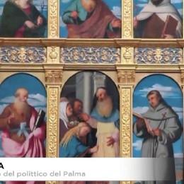 Serina, ricollocato nella parrocchiale il polittico di Palma il Vecchio