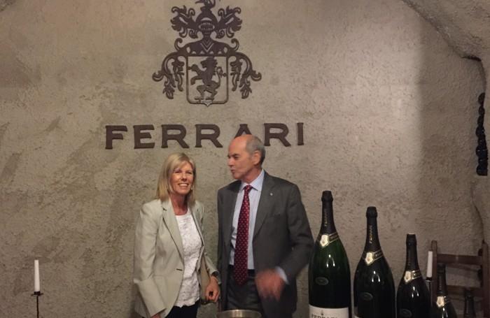 Mauro Lunelli con Marinella Argentieri