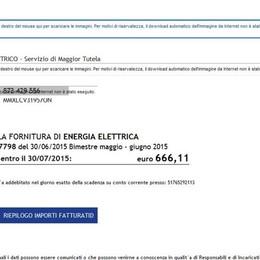 Fatture truffaldine dell'Enel Chiusi 17 falsi siti web