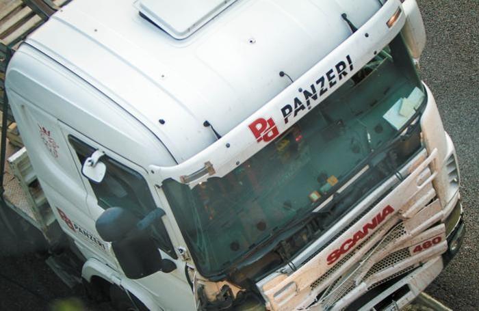 Il camion coinvolto nell'incidente