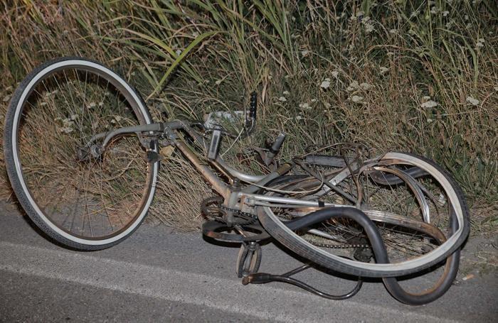 La bicicletta della vittima