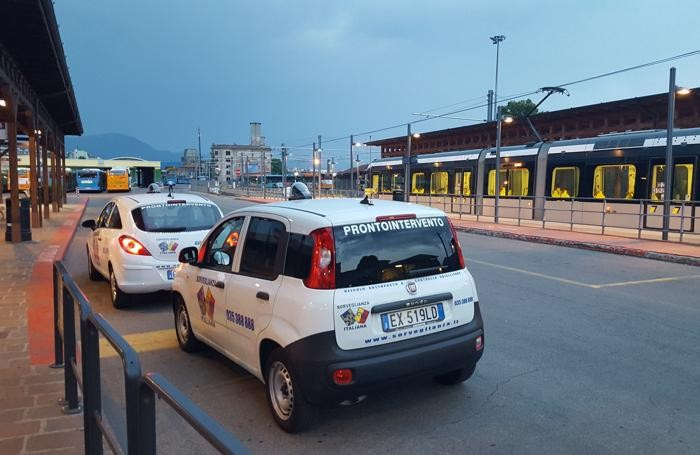 I controlli notturni nell'area della stazione