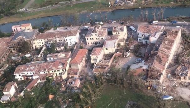 Tromba d'aria Veneto:1 morto e 72 feriti