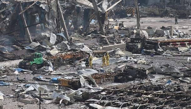 Tianjin, non stabiliti materiali esplosi