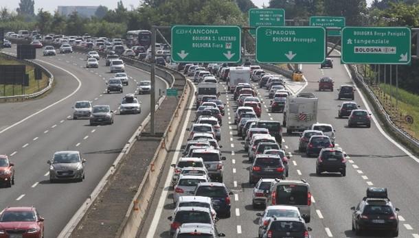 Ferragosto, traffico intenso