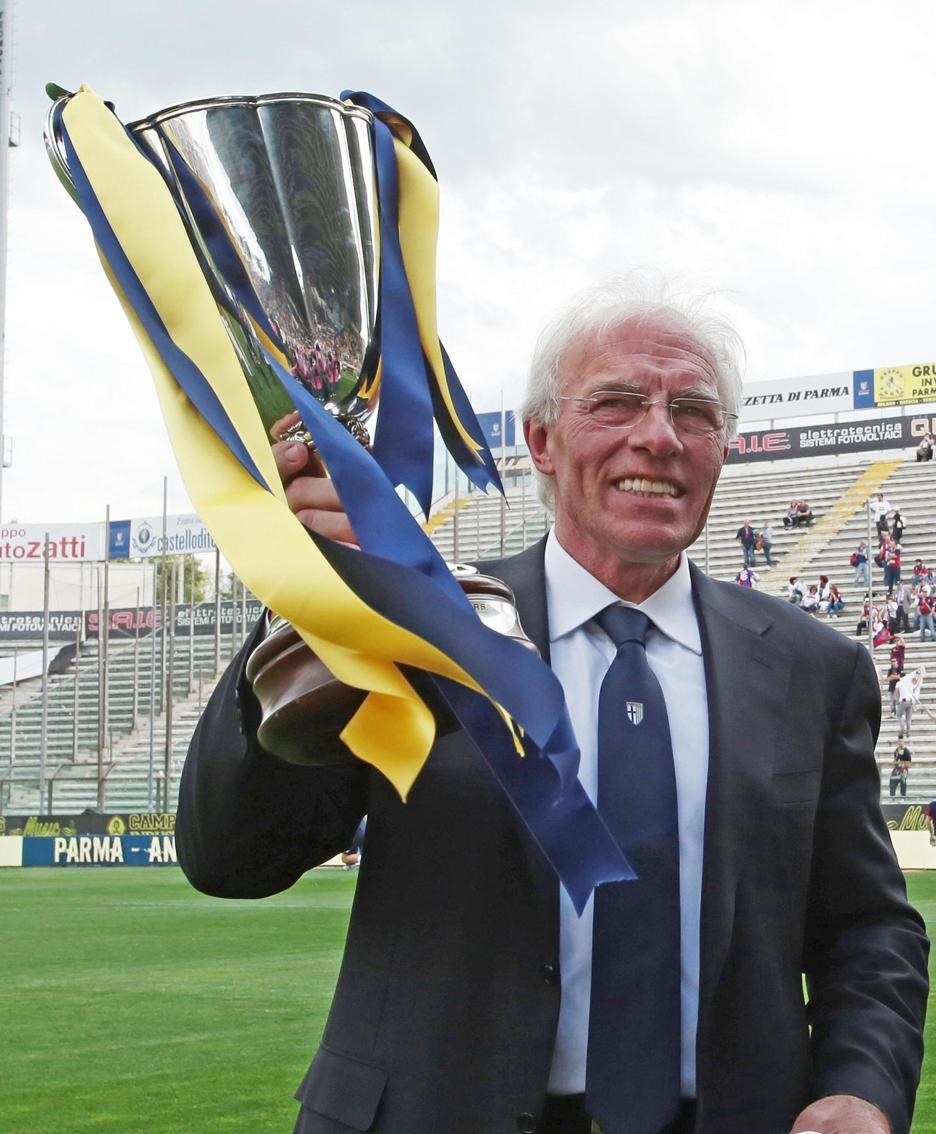 Nevio Scala, allenatore del Parma che vinse il 12 maggio 1993 la Coppa delle Coppe contro l'AnversaANSA
