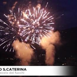 Bergamo- Lo spettacolo dei 'fuochi' di Santa Caterina