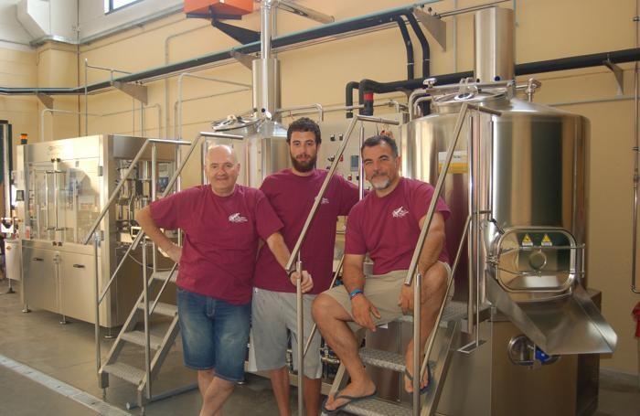 Da sinistra, Ermanno e Gabriele Defeo, Salvatore Grimaldi