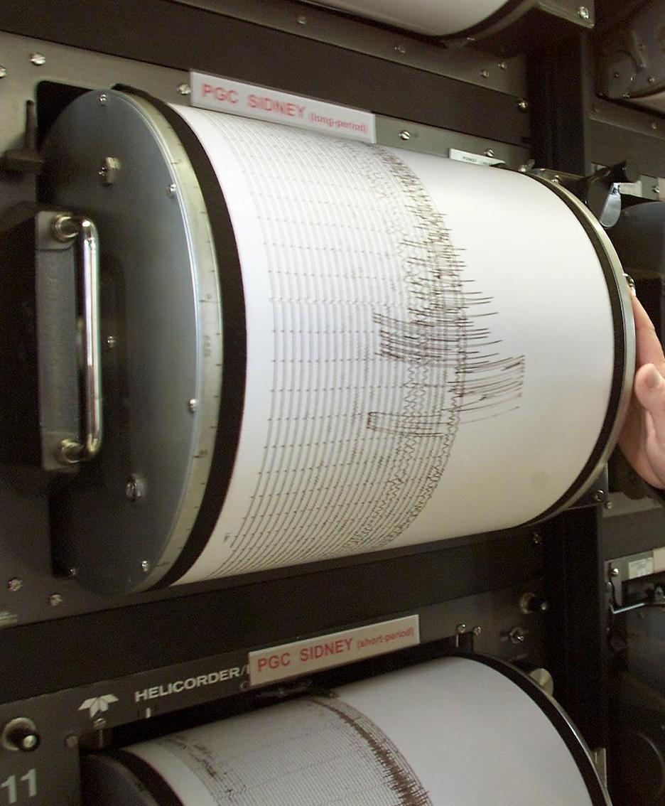 Il tracciato di un sismografo