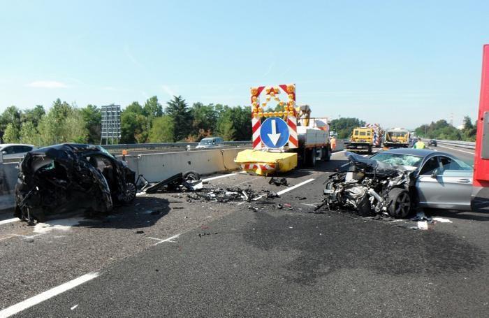 La terribile scena dell'incidente