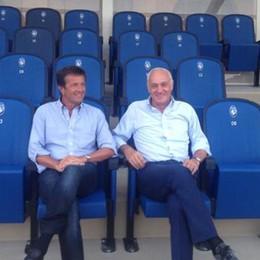 Gori in visita al Comunale con Percassi «Lavori ottimi, stadio di stampo europeo»