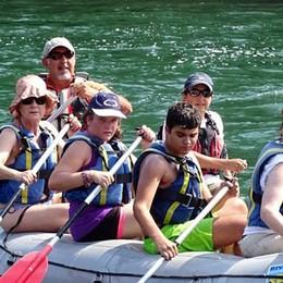 Rafting sul fiume a Medolago
