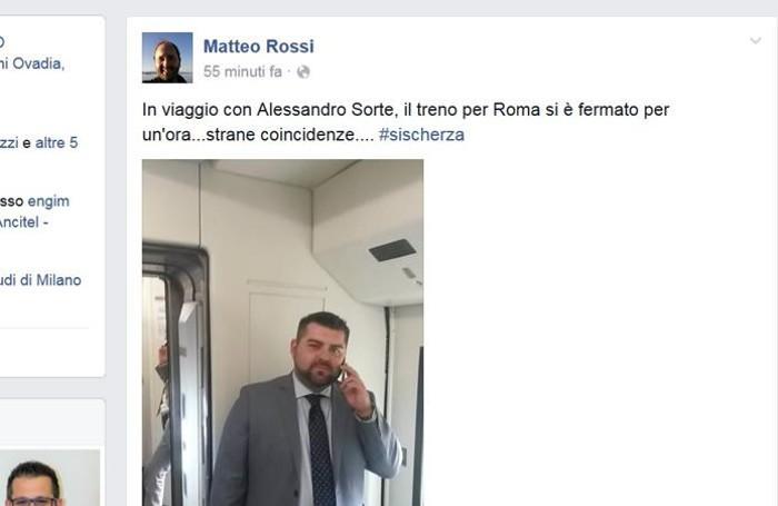 Il post di Matteo Rossi su Facebook