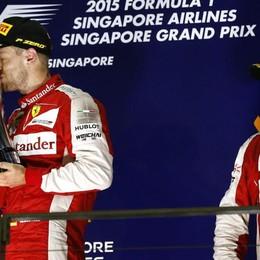 La Ferrari trionfa a Singapore Vettel primo, Raikkonen terzo