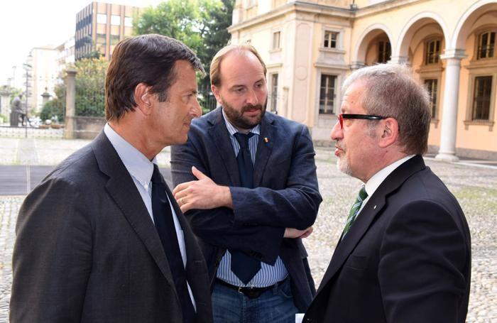 Roberto Maroni, Matteo Rossi e Giorgio Gori