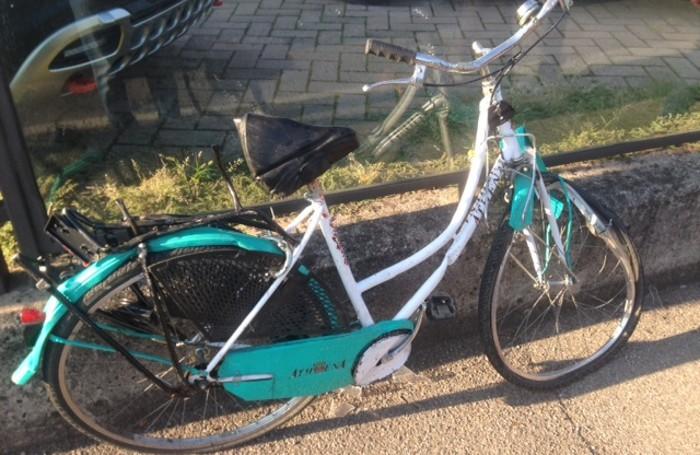 La bicicletta del 75enne ferito nell'incidente di Colognola