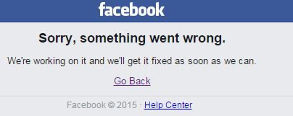 Facebook di nuovo fuori uso Secondo blackout in pochi giorni