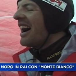 Simone Moro in Rai con Monte Bianco