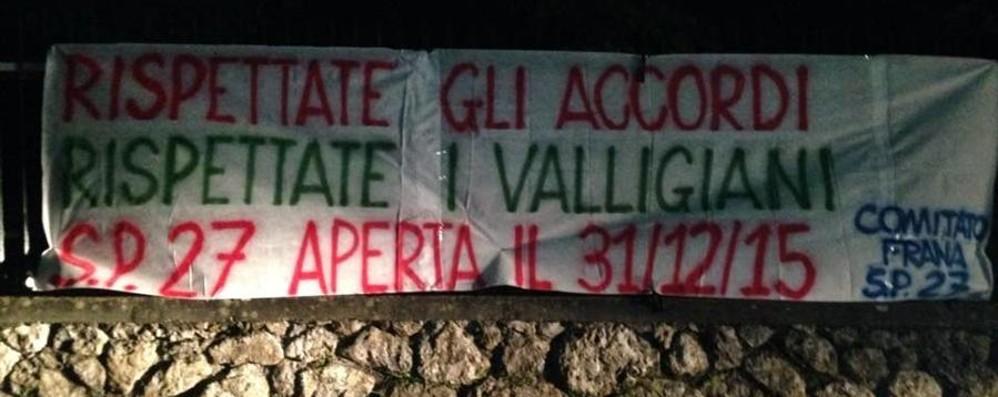 Val Serina, si riaccende la protesta «Basta ritardi, vogliamo la strada»