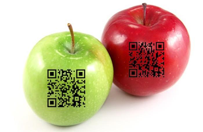 Un esempio di QrCode sul cibo
