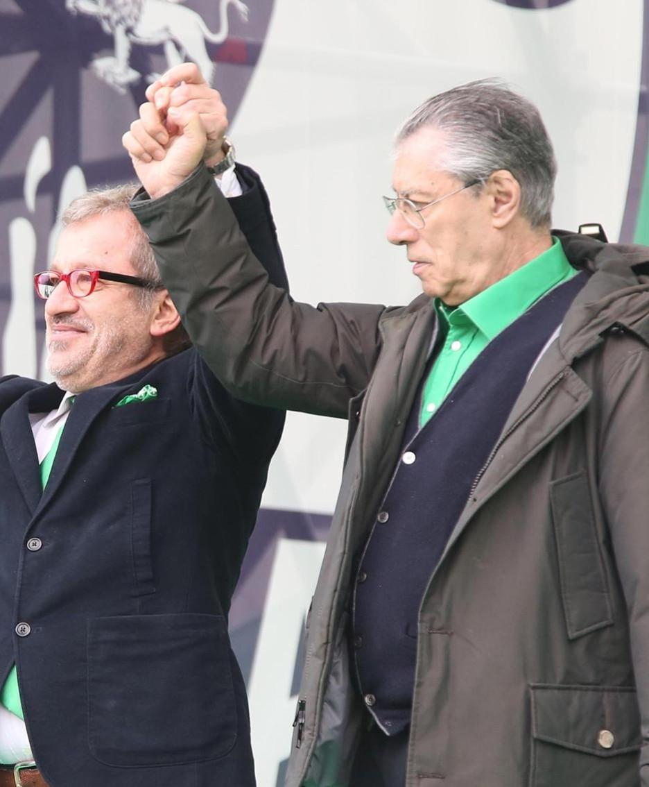 Bossi e Maroni al raduno del 2013