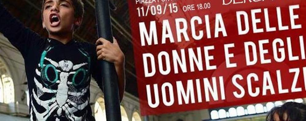 «Marcia degli uomini scalzi» Venerdì Bergamo fa sentire la sua voce