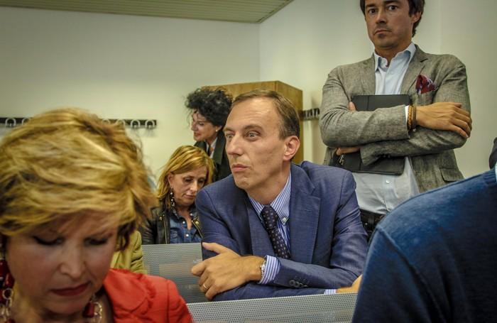 Pietro Morzenti in attesa del voto