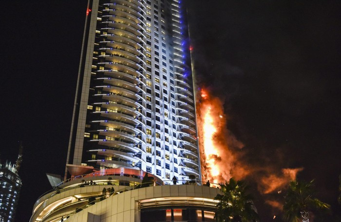 Le fiamme all«Address Downtown» di  Dubai