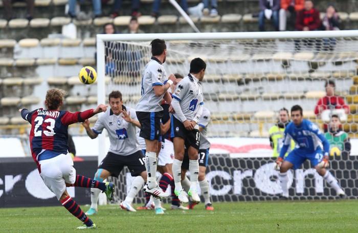 Diamanti in gol su punizione in Bologna-Atalanta del 2 dicembre 2012