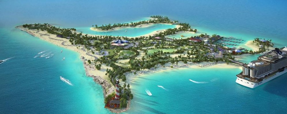 Msc, isola Bahamas in concessione 100 anni
