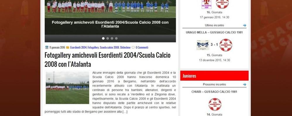 Il Gussago collabora  con l'Atalanta E i tifosi del club bresciano si sciolgono
