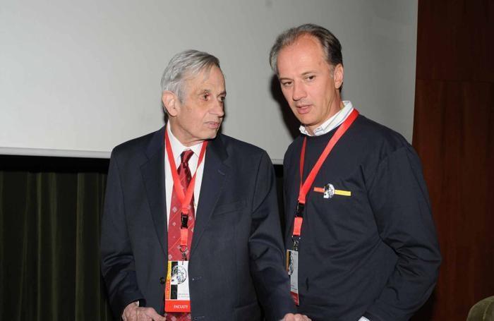 Mario Salvi con il matematico John Nash