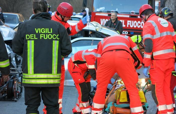 La donna di origine polacca soccorsa a Ponte Nossa dopo l'incidente