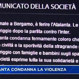 Violenza, la condanna dell'Atalanta