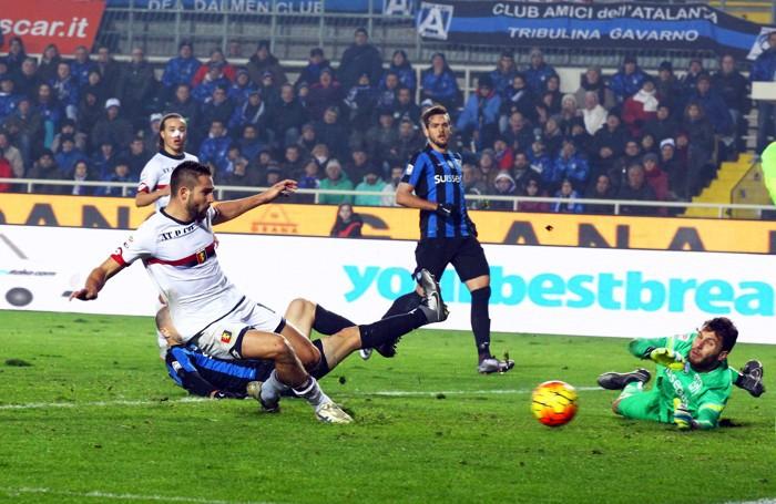 Il gol segnato all'Atalanta
